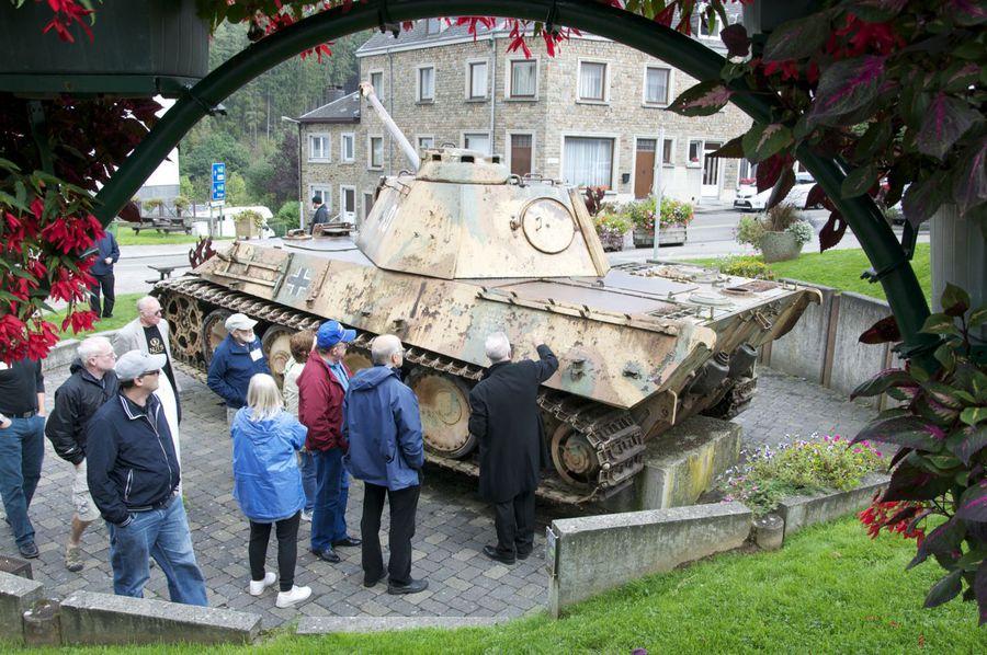 Panzer Tank in Houffalize Belgium