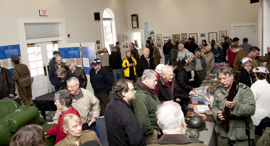 Crowd and Re-enactors at Lexington Exhibit